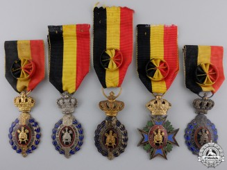 Five Belgian Medals and Awards