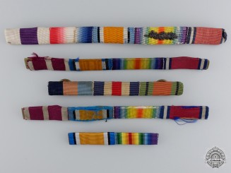 Five British & Commonwealth Period Ribbon Bars