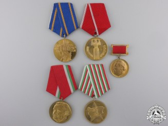 Five Bulgarian Commemorative Medals
