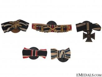 Five Button-Hole Miniature Ribbon Bars/Awards