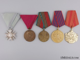 Five European Medals