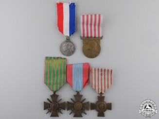 Five French First War Medals and Awards