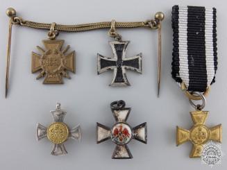Five Miniature First War Prussian Medals & Awards