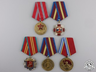 Five Russian Federation Armed Forces Medals
