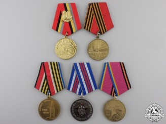 Five Russian Federation Campaign Commemorative Medals