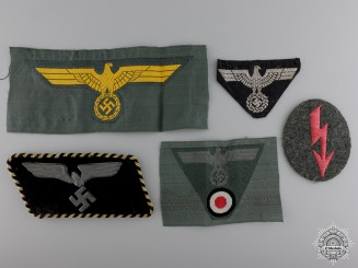 Five Second War German Period Cloth Insignia