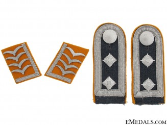 Flight Hauptfeldwebel's Collar & Shoulder Insignia