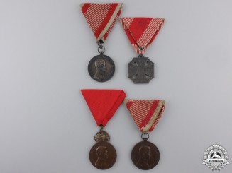 Four Austrian First War Medals and Awards