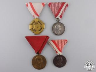 Four Austrian Military Themed Medals