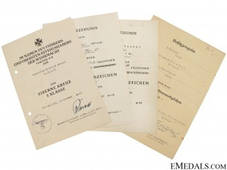 Four Award Documents - Gefreiten 7./G.R.67