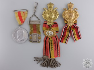 Four Baden Medals, Badges, and Awards