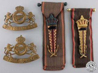 Four Belgian Insignia