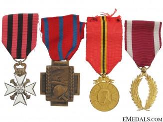 Four Belgian Medals