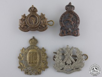 Canada. Four First War Canadian Collar Badges