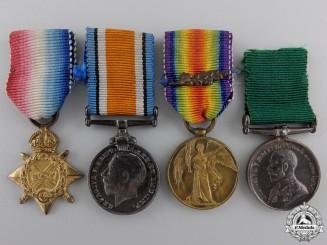 Four First War Miniature British Medals