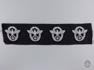 Four M43 Police Overseas Cap Insignia
