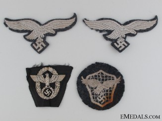 Four Pieces of Cloth Insignia