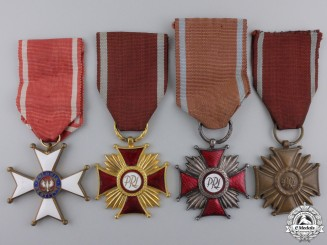 Four Polish Medals & Awards