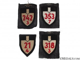 Four RAD Cloth Insignia