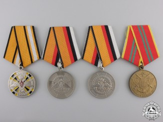 Four Russian Federation Ministry of Defence (MO) Medals