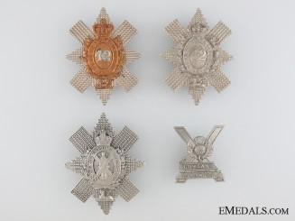 Four Scottish Glengarry Badges