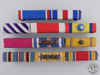 Four Second War Period Worn American Ribbon Bars