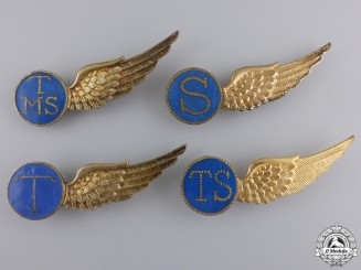 Four Second War Royal Netherlands Naval Air Service Badges