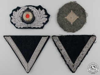 Four Second War Army (Heer) Insignia