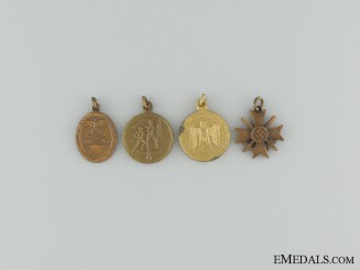 Four Third Reich Miniature Medals