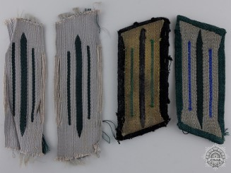 Four Third Reich Constabulary Collar Tabs