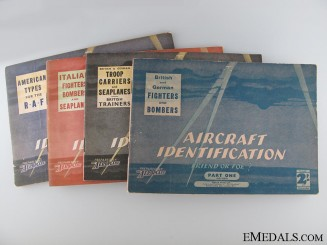 Four WWII Aircraft Identification Manuals
