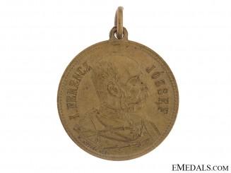 Franz Joseph at Cakovec Autumn Manoeuvres Commemorative Medal 1896