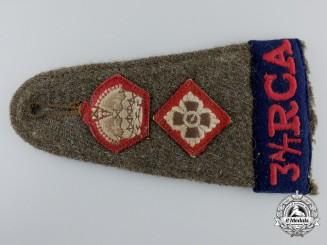 A D-Day Lieutenant Colonel 3rd Anti-Tank Regiment; Royal Canadian Artillery Shoulder Strap