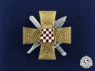 A Herceg-Bosna (Former Croat territory of Bosnia-Herzegovina) War Memorial Cross 1992-1995
