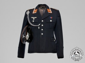 A Luftwaffe Unteroffizier Signals Tunic with Visor Cap