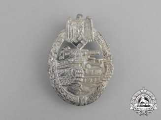 An Early War Silver Grade Tank Assault Badge
