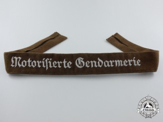 A Motorized Rural Police (Motorisierte Gendarmerie) Officer's Cufftitle