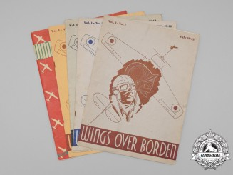 "Five Royal Canadian Air Force (RCAF) ""Wings Over Borden"" Magazines 1942"