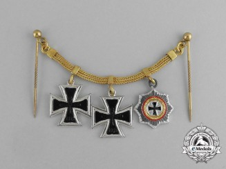 A Miniature German Cross Award Chain; 1957 Version