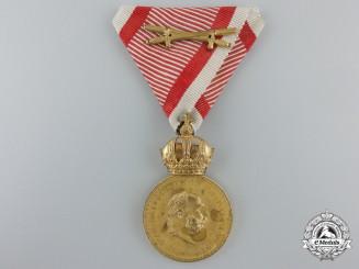 An Austrian Military Merit Medal; Franz Joseph I Bronze Grade