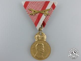 An Austrian Military Merit Medal; Karl I Bronze Grade