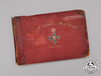 Romania, Kingdom. A Yearbook of the Order of Michael the Brave 1916-1920