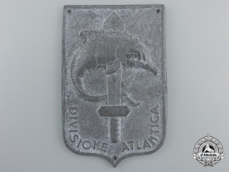 "A Second War Italian Atlantic Division ""Divisione Atlantica"" Naval Badge"