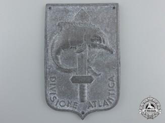 "A Second War Italian Atlantic Division ""Divisione Atlantica"" Naval Badge"