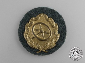 A Mint Gold Grade Wehrmacht Heer (Army) Driver's Proficiency Badge