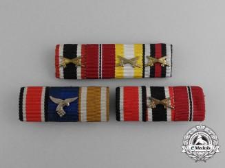 Three Second War German Medal Ribbon Bars