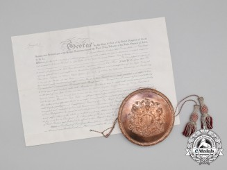 A Historic Appointment Document & Seal to the Ambassador at the Prussian Court 1910