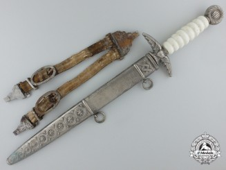 An Unusual Second War Croatian Air Force Dagger with PTS Dagger Blade