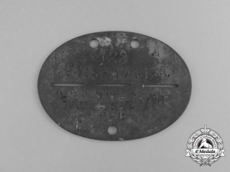 A Waffen-SS 9th Artillery Reserve Regiment Identification Tag
