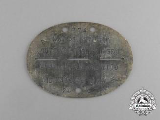 """A Waffen-SS Panzer Grenadier Division """"Götz von Berlichingen"""" Identification Tag"""